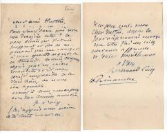 5 L.A.S. Jean-Alexandre POISE (compositeur Français, Né En 1828) - Autogramme & Autographen