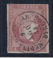 """ESPAÑA 1856 - Edifil#48 Fechador """"Medina De Pomar"""" - Nuevos"""