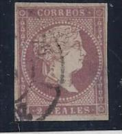 ESPAÑA 1856 - Edifil #50 Ligero Adelgazamiento - VFU - Unused Stamps