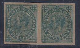 ESPAÑA 1876 - Edifil #183S Par - MLH * - Impuestos De Guerra