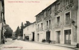 81 Lacaune Les Bains - Hôtel Moutou - Attelage - Animé - Commerce - Francia