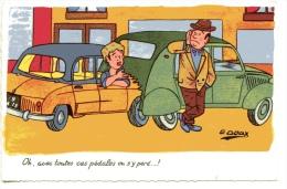 G.GOUX - Automobile - Oh, Avec Toutes Ces Pédales .... - Andere Illustrators
