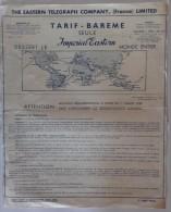 Tarif-Barème Seule Imperial-Eastern Dessert Le Monde Entier - Mai 1952 (bateau) - Monde