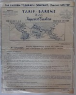 Tarif-Barème Seule Imperial-Eastern Dessert Le Monde Entier - Mai 1952 (bateau) - World