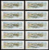 VIGNETTES D'AFFRANCHISSEMENT DU CONGRES DE LA FFAP EN 2004 AVEC RECUS CORRESPONDANTS - 1999-2009 Geïllustreerde Frankeervignetten