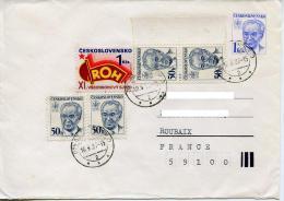 Entier Postal,enveloppe Husak 1 Kcs,curiosité,NON ADMIS Journaux 50h ObliteréeTchecoslovaquie,,lettre 1987 - Covers