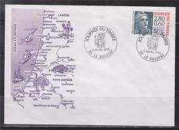 = Journée Du Timbre 1995 Enveloppe 1er Jour 33 Le Bouscat 4.3.95 N°2933 Centenaire De La Marianne De Gandon - Journée Du Timbre