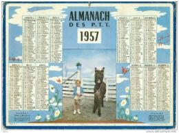 Calendrier - Almanach Des PTT 1957 - Grand Format : 1941-60