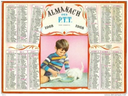Calendrier - Almanach Des PTT 1968 - Grand Format : 1961-70