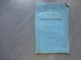 Annales De L´extinction Du Paupérisme, Paganelli De Zicavo, NUMERO 1, Sept 1849 , RARE ;  Ref C 23 - Livres, BD, Revues