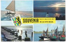 Cpsm Belgique SOUVENIR DE LA COTE BELGE VAN DE BELGISCHE KUST - Belgique
