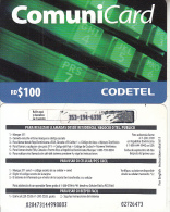 DOMINICANA  - CODETEL Prepaid Card RD$100(thin), Used