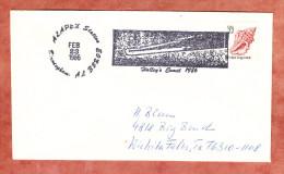 Brief, Muschel, Figurenstempel Halley's Komet Alapex Station, Nach Wichita Falls 1986 (89750) - Storia Postale