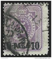 Deutsches  Reich    Turkei      Michel    1           O              Gebraucht  /  Cancelled - Deutsche Post In Der Türkei