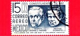 MESSICO - Usato - 1956 - 100 Anni Della Costituzione Del 1857 - Fariac (1781-1858) - Ocampo (-1861) - Messico
