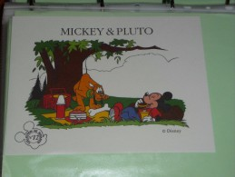 BUVARD Publicitaire  BLOTTING PAPER   -  N°12 MICKEY PLUTO Ecole BACK TO SCHOOL DISNEY - Papelería