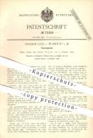 Original Patent - Richard Goll In Frankfurt / Main , 1892 , Feuerungsrost , Feuerung , Rost , Ofenrost , Ofen , Öfen !!! - Historische Dokumente