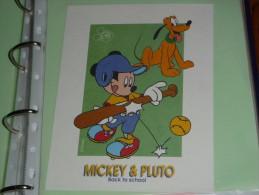 BUVARD Publicitaire  BLOTTING PAPER   -  N°19 MICKEY PLUTO Ecole BACK TO SCHOOL DISNEY - Papelería