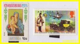 ANTIGUA  - AMERICA DEL NORTE  CARIBE  2 SELLOS -1974 - Sellos