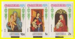 ANTIGUA  - AMERICA DEL NORTE  CARIBE  3 SELLOS -1974 DE SERIE - Sellos