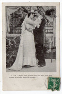 """Couple--Baiser De Mariage--1909--n°2 éd  ????---cachet Convoyeur Ou Ambulant  """"Doullens à Arras"""" - Couples"""