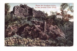 San Jeronimo Cuzeo    Very Fine Used Post Card  To Rome 1927 - Peru