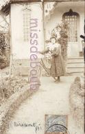 47 - MIRAMONT  - Une Maison - Femme - Vélo -  1906 - 2 Scans - Autres Communes