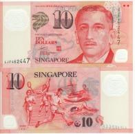 SINGAPORE  $10  Polimer  P48g  Two Diamonds  Below  Sports  On Back  UNC - Singapour