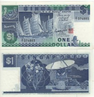 """SINGAPORE  $1    P18b  """"REPLACEMENT ISSUE""""  ( ND 1987 ) UNC - Singapour"""