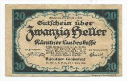 Austria Wien 20 Heller 1920. - Autriche