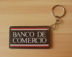 PERU BANK OF COMMERCE , KEYCHAIN , OLD VINTAGE - Key-rings