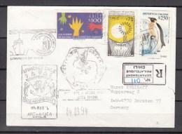 Chili 1994,3V On Registered Letter To Germany,chili Antarctica,armada De Chile,base Arturdprat,READ,(L2029) - Bases Antarctiques