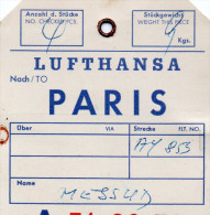 LUFTHANSA  PARIS    DEUTSCHE LUETHANSA A.C. 10 JUIN 1955  STATION HAMBOURG  LES 2 - Mappe
