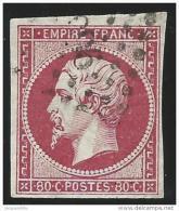 France    Yvert       17 B             O            Oblitéré - 1853-1860 Napoleone III