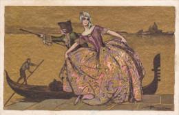 Illustrateur Italien BUSI - Venise Et Gondole - Busi, Adolfo