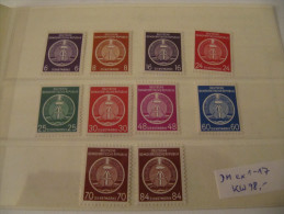 1954, Lot 10 Dienstmarken 1. Ausgabe, Michel Ex D1-D17 MNH **, Value 98,- - [6] République Démocratique