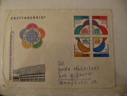 1962, Weltfestspiele Viererblock, Michel 901-904 BRF Letter, Value 90,- - [6] République Démocratique