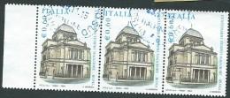 Italia 2004; Tempio Maggiore A Roma . Terzina Con 1 Bordo A Sinistra. - 6. 1946-.. Repubblica
