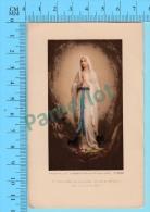 ( Notre Dame De Lourdes Priez Pour Nous + Indulgences  ) Image Pieuse Holy Card Santini 2 Scans - Images Religieuses