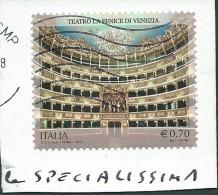 Italia 2013; Teatro La Fenice Di Venezia . Su Spezzone, Al Retro Cartolina De La Fenice. - 6. 1946-.. Repubblica