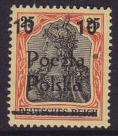 POLAND 1919 Poznan Fi 69 Mint Hinged - Unused Stamps