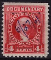 USA - U.S. Internal Revenue, Documentary -  Revenue Tax Stamp - USED - Albert Gallatin - Revenues