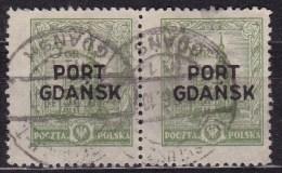 POLAND Port Gdansk 1926 Fi 12a Used Pair - 1919-1939 Republic