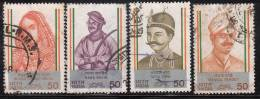India Used Set Of 4, 1984, Leaders Of Sepoy Mutiny, (First War Of Independence) - Oblitérés