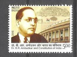INDIA, 2015,  B R Ambedkar, Constitution Of India, MNH, (**) - India