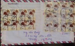 Vietnam Viet Nam Registered Cover Sent To Argentina 2013 With Handicraft Stamps / 02 Images - Vietnam