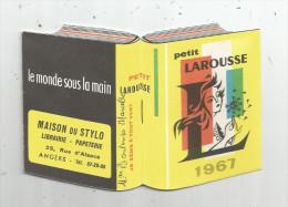 G-I-E , Calendrier , Petit Format , 10 Pages , 1967 , PETIT LAROUSSE , Maison Du Stylo , ANGERS - Calendars