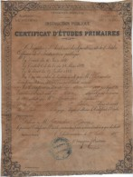Certificat D´Etudes Primaires/Instruction Publique/Académie De POITIERS/Indre/Saint Hilaire/1889  DIP70 - Diplômes & Bulletins Scolaires
