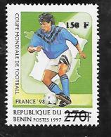 TIMBRE SURCHARGE NEUF DU BENIN DE 2000 N° MICHEL 1290  COTE 100 € - Benin – Dahomey (1960-...)