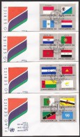 United Nations UN Flag Issue 1989 Complete Set 4 Official FDC - Superb Condition - New York -  VN Hauptquartier